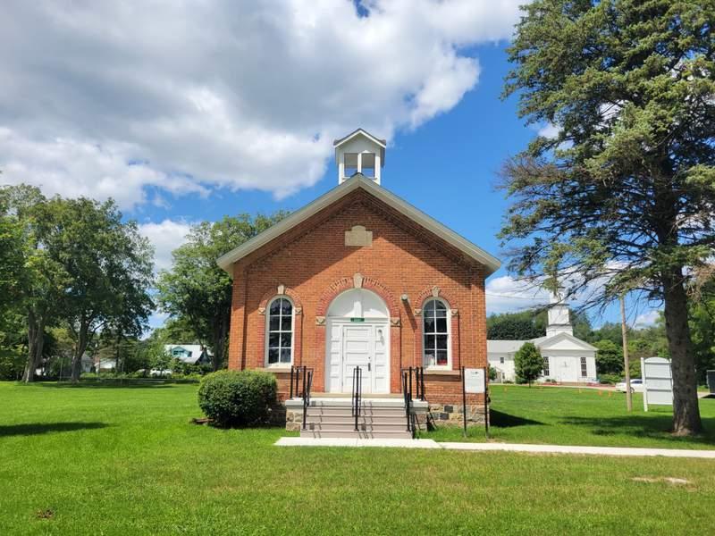 The historic schoolhouse in Dixboro, Michigan.