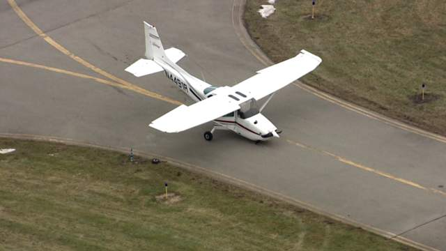 A small plane crashed at Custer Airpot in Monroe on Thursday, December 21, 2017. (WDIV)