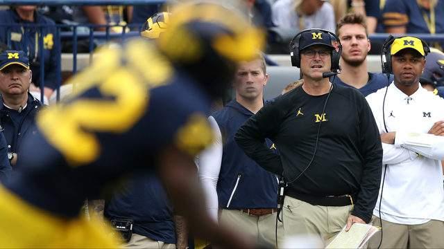 Michigan coach Jim Harbaugh (Gregory Shamus/Getty Images)