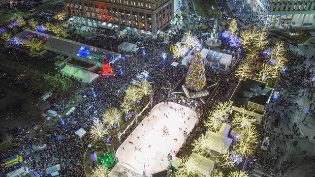Detroit Christmas Tree in 2015. (Photo: @mrsteviesoul)
