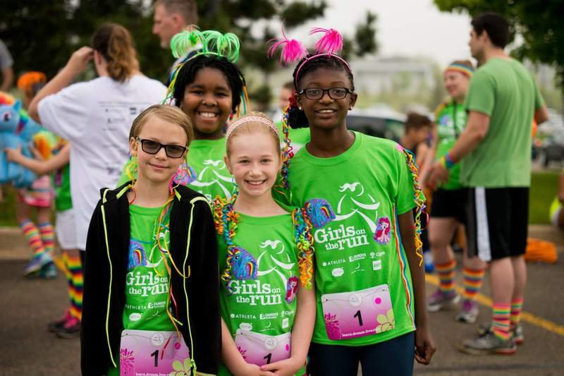 Participants at a previous Girls on the Run  event.