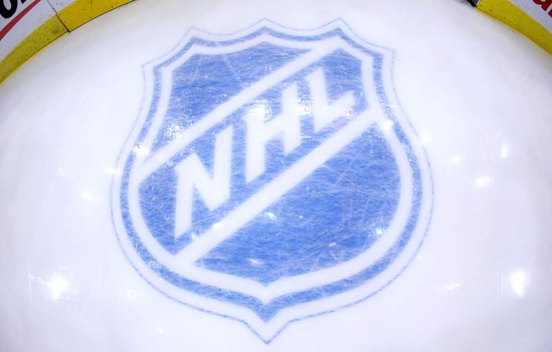 PITTSBURGH - MAY 04: The NHL logo behind the net during the game between the Pittsburgh Penguins and the New York Rangers prior to game five of the Eastern Conference Semifinals of the 2008 NHL Stanley Cup Playoffs on May 4, 2008 at the Mellon Arena in Pittsburgh, Pennsylvania. (Photo by Bruce Bennett/Getty Images)