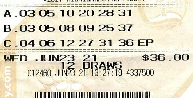 Lotto 47 winning ticket on June 23, 2021.