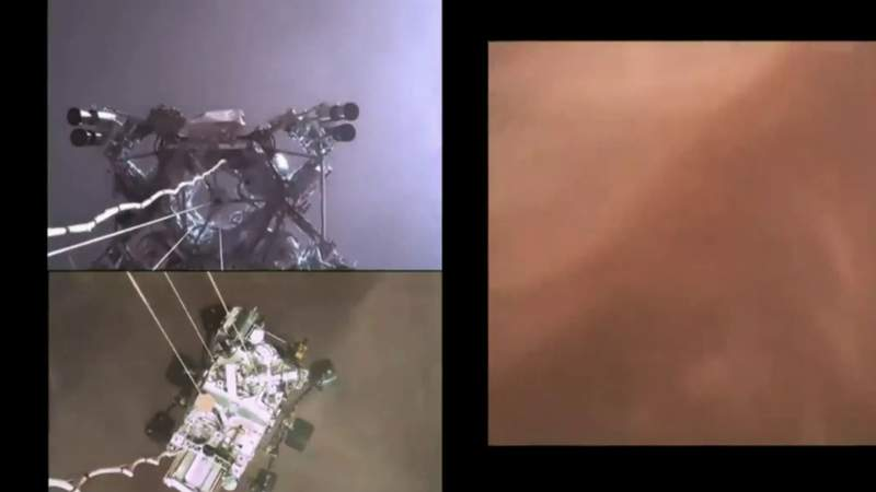 First video is back from Mars rover Perseverance