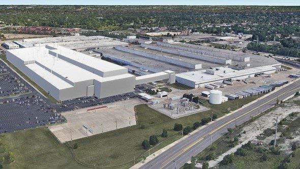 A rendering of a new FCA auto plant in Detroit. (WDIV)