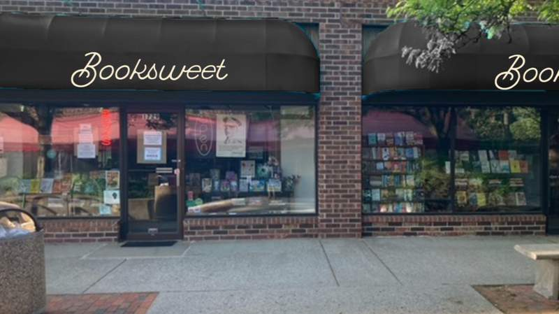 A mock-up of the new shop signage. Booksweet is scheduled to open by Friday, Aug. 6, 2021 at 1729 Plymouth Rd. in the Courtyard Shops.