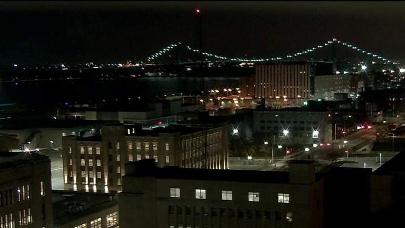 View of Detroit from WDIV on Nov. 7, 2020 at 6:30 p.m.