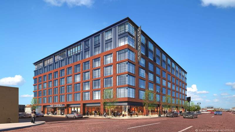 The Godfrey Hotel Detroit will bring 227 rooms, amenities including a rooftop lounge and restaurant, and hundreds of jobs to the city's historic Corktown.