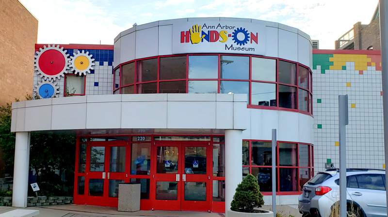 The entrance of the Ann Arbor Hands-On Museum.