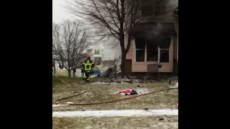 Emergency crews investigate plane crashing into home in Lyon Township