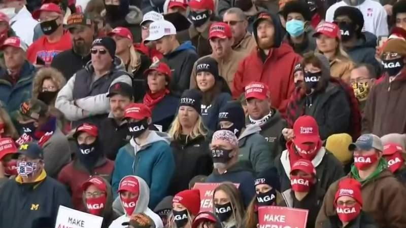 President Donald Trump takes aim at Gov. Whitmer at campaign stop in Michigan