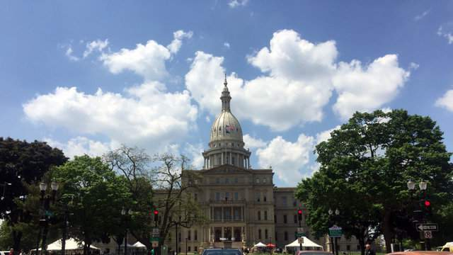 The Michigan Capitol Building in Lansing