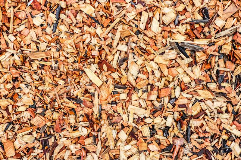 Wood chips.