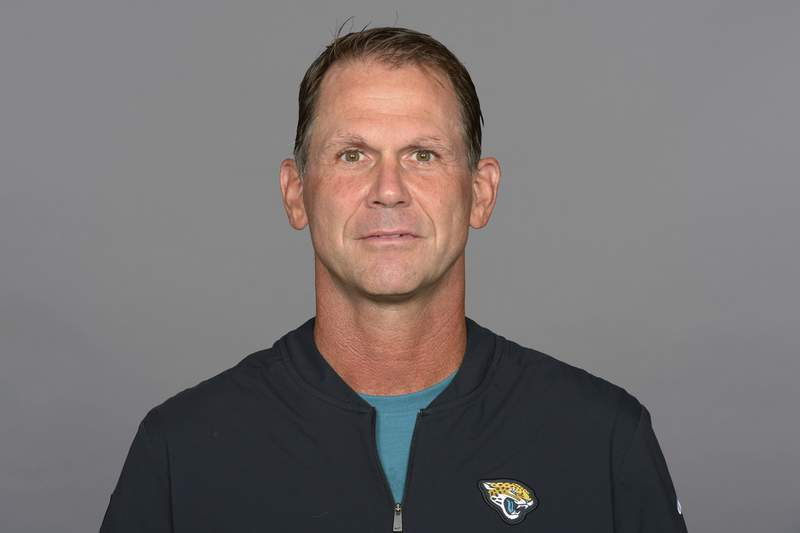 FILE - This is a 2020 file photo showing Trent Baalke of the Jacksonville Jaguars NFL football team.  The Jacksonville Jaguars formally named Baalke general manager on Thursday, Jan. 21, 2021. (AP Photo)