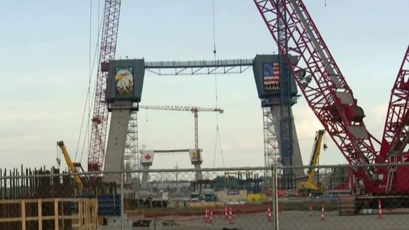 Construction ramping up at Gordie Howe Bridge site