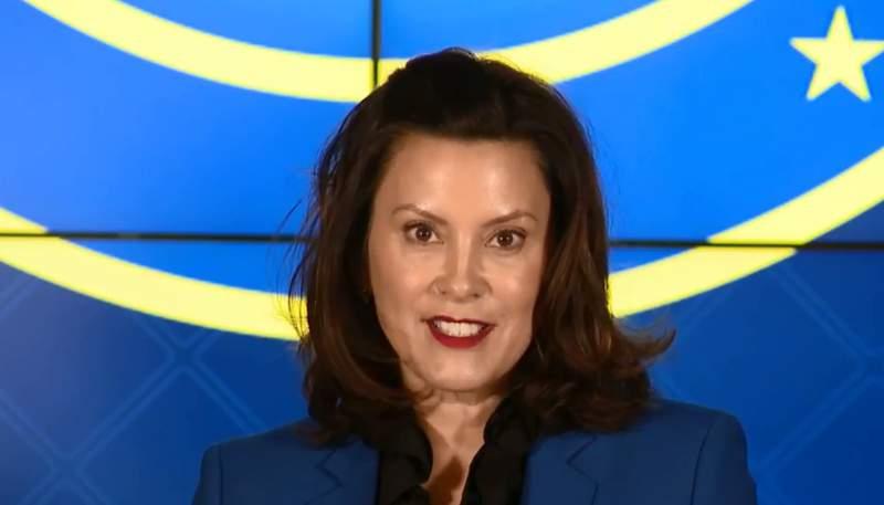 Michigan Gov. Gretchen Whitmer at coronavirus press conference on March 11, 2020.
