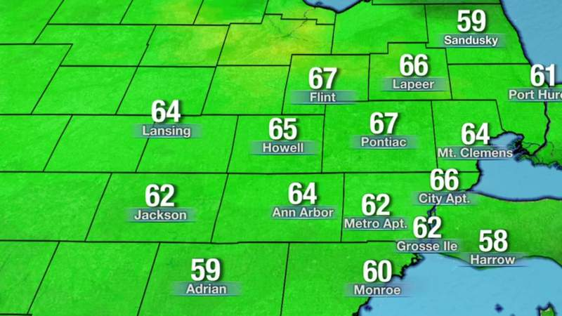 Metro Detroit weather: Higher temperatures expected Sunday