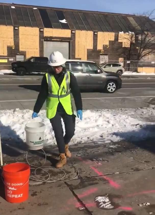EPA testing in Hazel Park on Jan. 21, 2020.