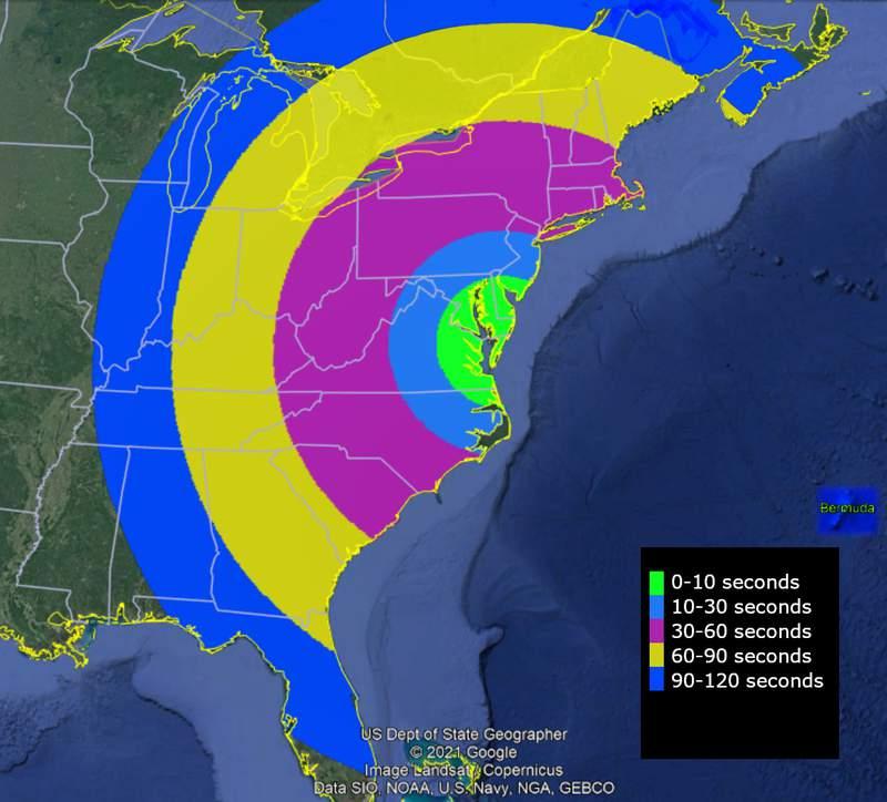 KiNet-X Visibility Map. (NASA)