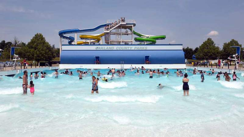 Red Oaks Waterpark in Madison Heights, Mich.