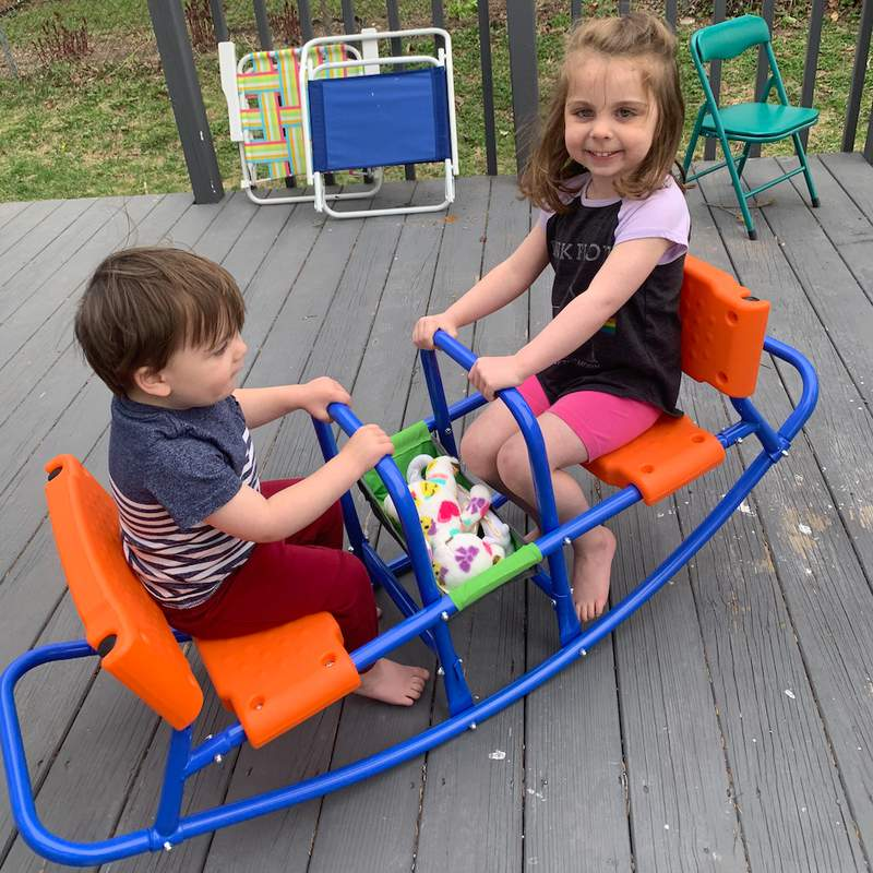 The seesaw, not the kids.  ;)