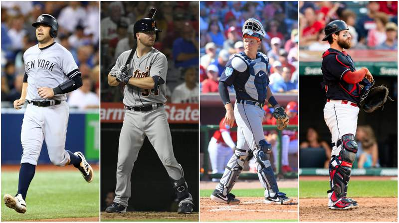 Austin Romine, Jake Rogers, Grayson Greiner and Eric Haase.