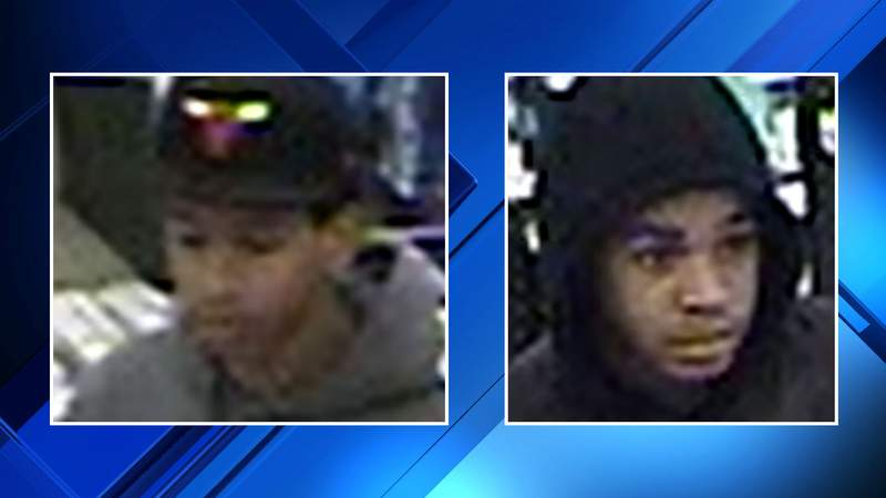 Two men suspected of stealing from a Target store in Bloomfield Township on Nov. 15, 2019.