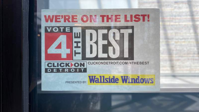 """Vote 4 The Best """"We're On The List"""" window cling"""