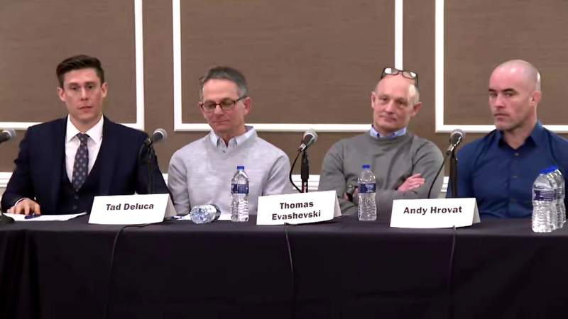 Former U of M athletes hold news conference on alleged sexual abuse by Dr. Robert Anderson