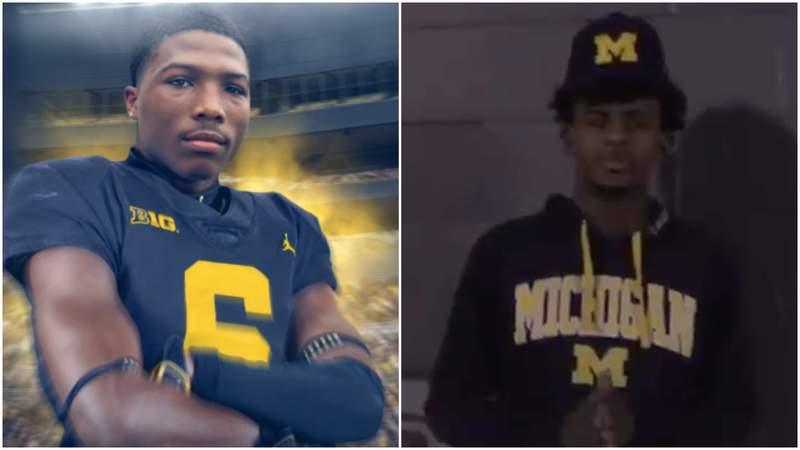 Michigan football commits Kody Jones (left) and Taylor Groves (right). [Photos via Twitter: @kodyjones_ and @iamtaylorgroves]