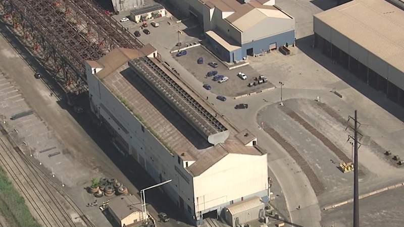 The AK Steel plant in Dearborn.