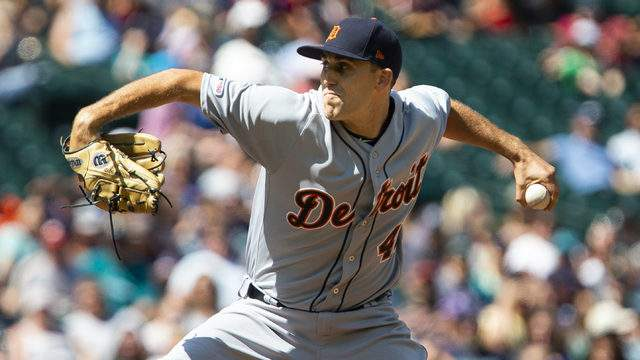 Matthew Boyd #48 of the Detroit Tigers pitches in the sixth inning against the Seattle Mariners at T-Mobile Park on July 28, 2019 in Seattle, Washington. (Photo by Lindsey Wasson/Getty Images)