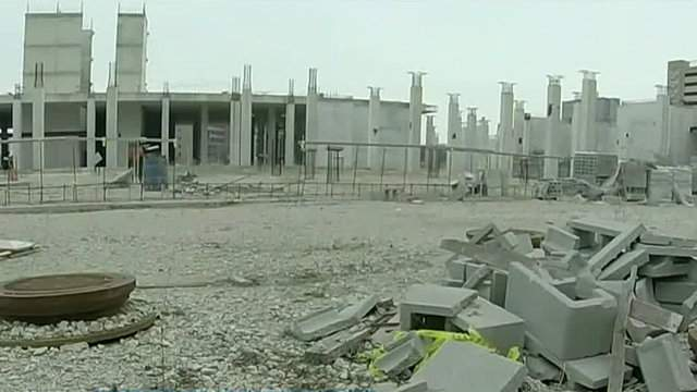 The site of a failed Wayne County jail project in Detroit. (WDIV)