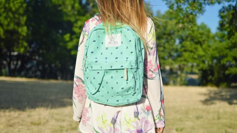 Girl wearing a backpack