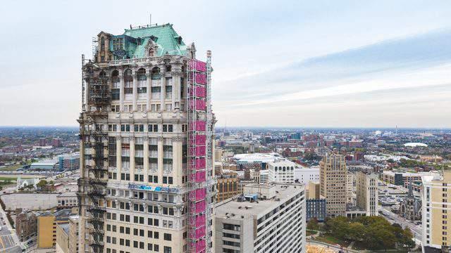 Book Tower rehabilitation in Downtown Detroit (Sept. 4, 2019/Bedrock)