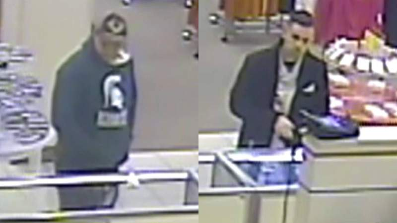 Police say these men stole jewelry from the Westland Mall Sears on Feb. 3, 2020.