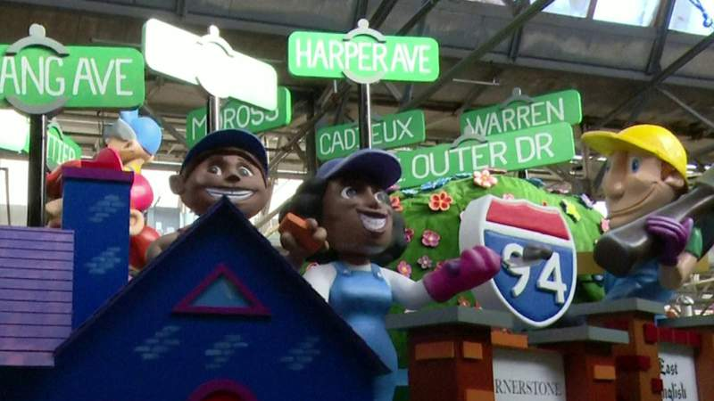Check out 'From Virtual to Reality ... Here For It All' float from Blue Cross Blue Shield of Michigan