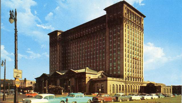 Michigan Central Station served as a bustling transportation hub in Detroit until it closed in 1988. (Photo courtesy of Ford)