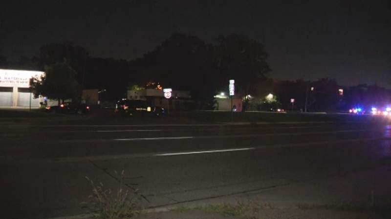 The scene of a fatal pedestrian crash on July 26, 2021, in Southfield.