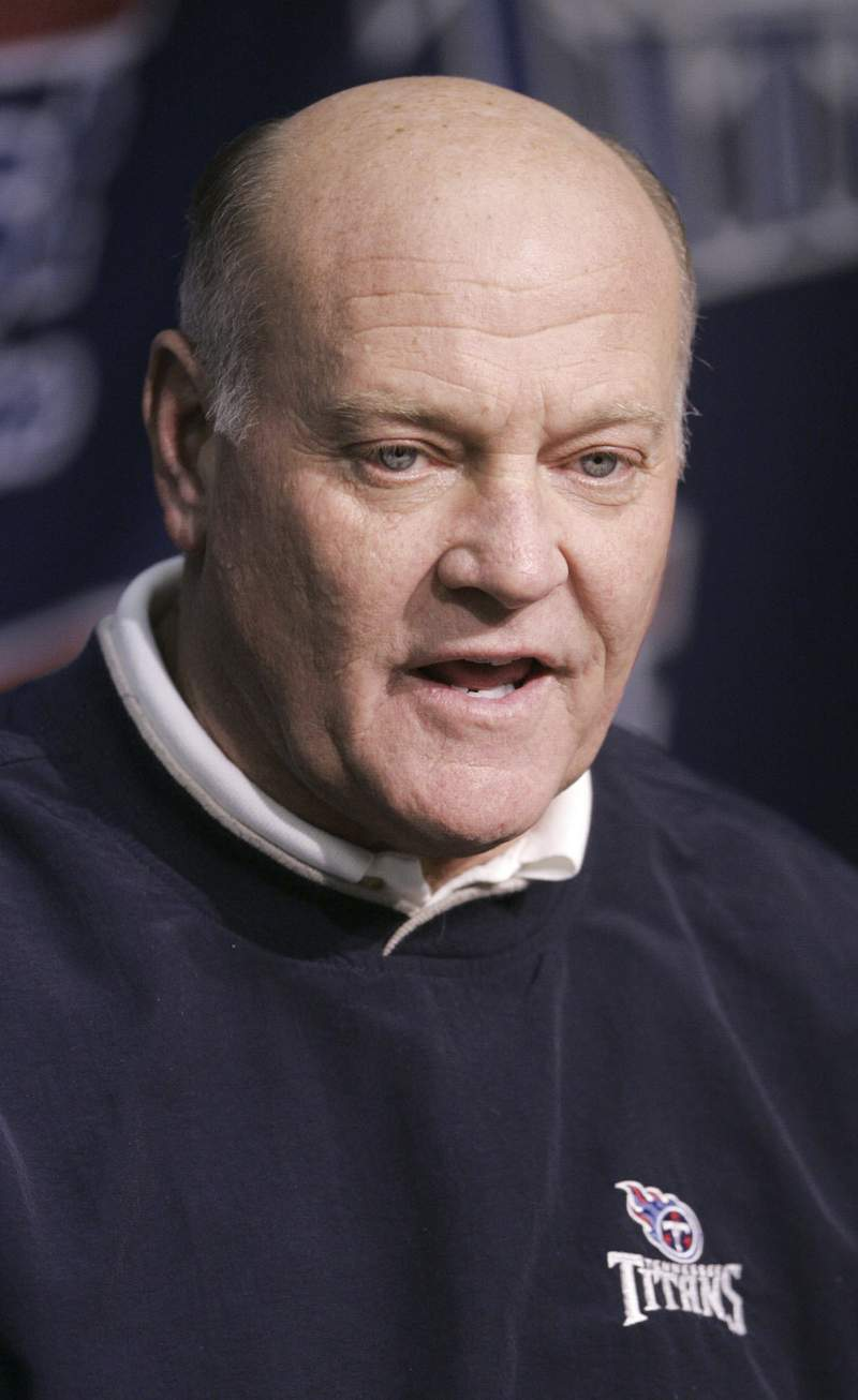 FILE - This Feb. 17, 2005 file photo shows Tennessee Titans general manager Floyd Reese in Nashville, Tenn.   Reese, the general manager of the Tennessee Titans lone Super Bowl team, has died, on Saturday, Aug. 21, 2021.    (AP Photo/Mark Humphrey, File)