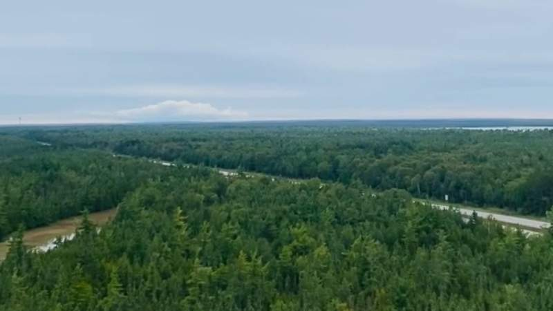 View from the top of Castle Rock in Michigan