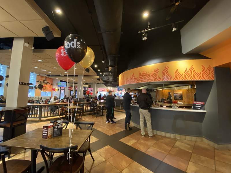 Inside the refreshed bd's Mongolian Grill at 200 S. Main St.