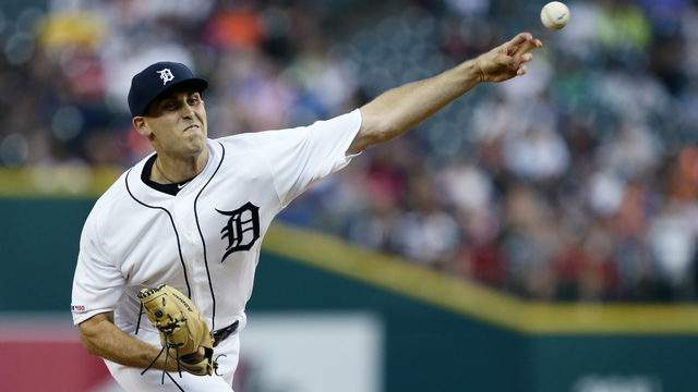 Matthew Boyd #48 of the Detroit Tigers pitches against the Philadelphia Phillies during the second inning at Comerica Park on July 23, 2019 in Detroit, Michigan. (Photo by Duane Burleson/Getty Images)