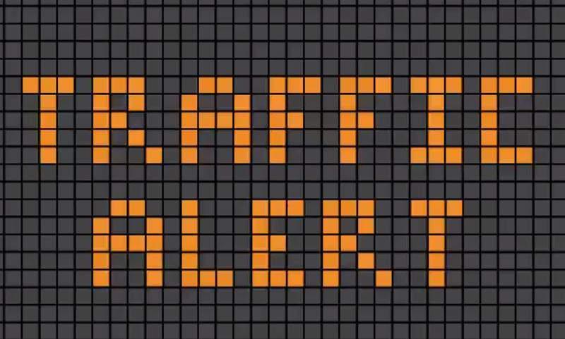 Traffic alert generic graphic