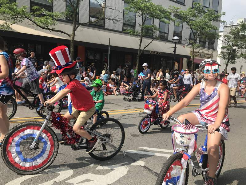 The annual Ann Arbor Fourth of July Parade on Liberty St. on July 4, 2019.