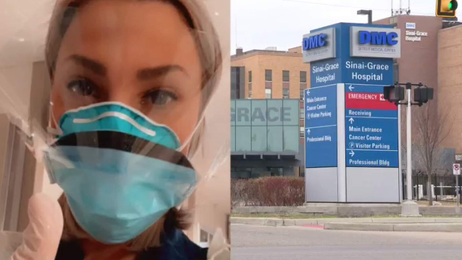 Nurse fired from Sinai-Grace Hospital for video showing COVID-19 precautions sues Detroit Medical Center
