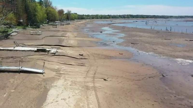 Excavation work will be done below the Edenville Dam in Midland County, according to state officials.