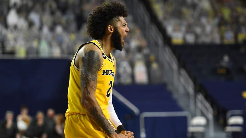 Isaiah Livers #2 of the Michigan Wolverines reacts during the second half against the Minnesota Golden Gophers at Crisler Arena on January 06, 2021 in Ann Arbor, Michigan.