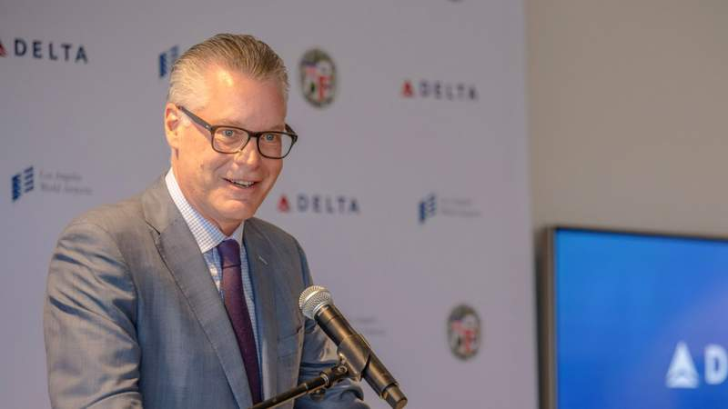 Delta Air Lines CEO Ed Bastian on May 31, 2018. (Photo by Dustin Downing/Getty Images for Delta Air Lines)