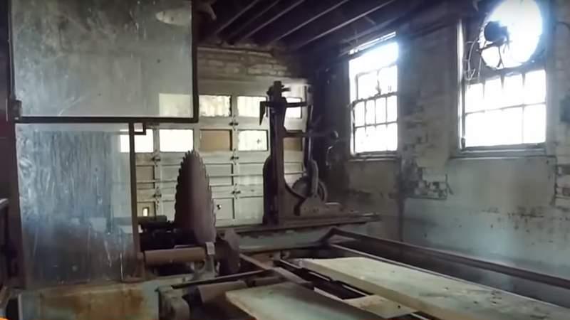 Inside the Belle Isle sawmill